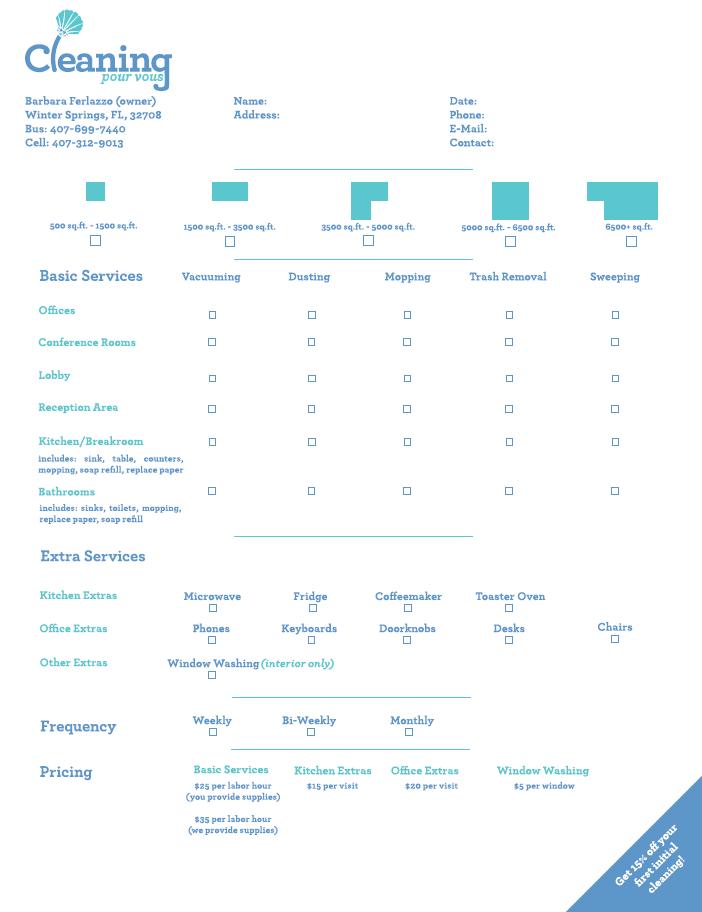 Cleaning Pour Vous Estimate Sheet Iron Ion – Estimate Sheet