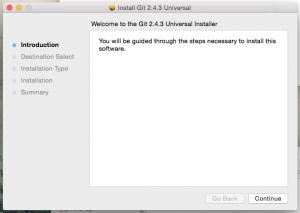 Standard installation dialog.
