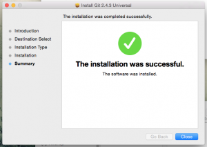 Installation success!